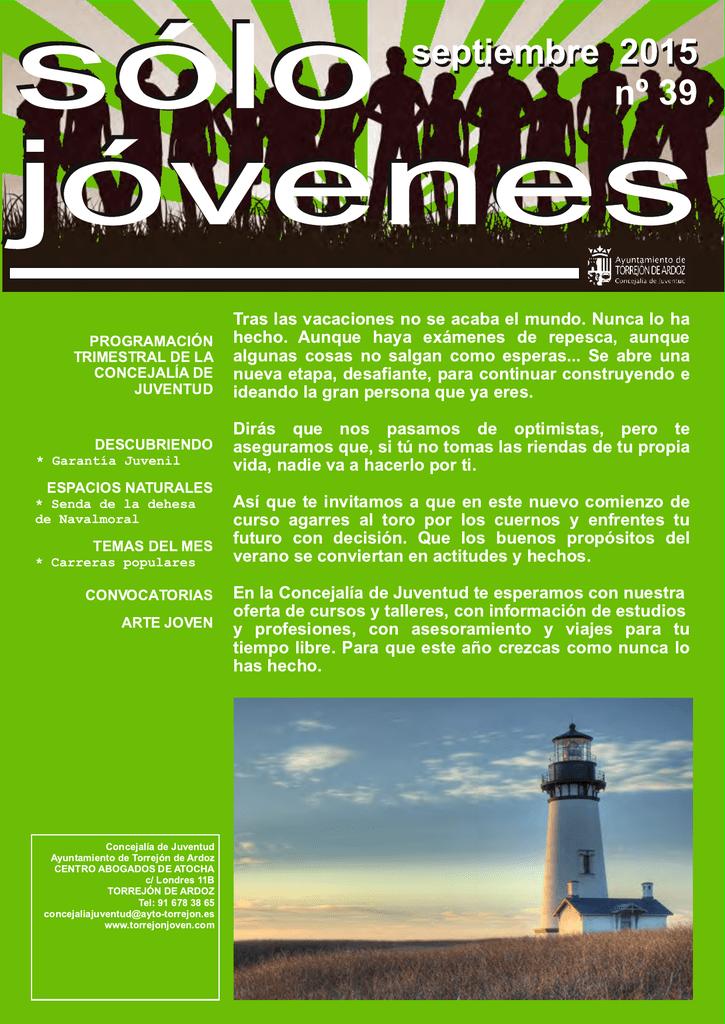 Septiembre 2015 Concejalía De Juventud Torrejón De Ardoz