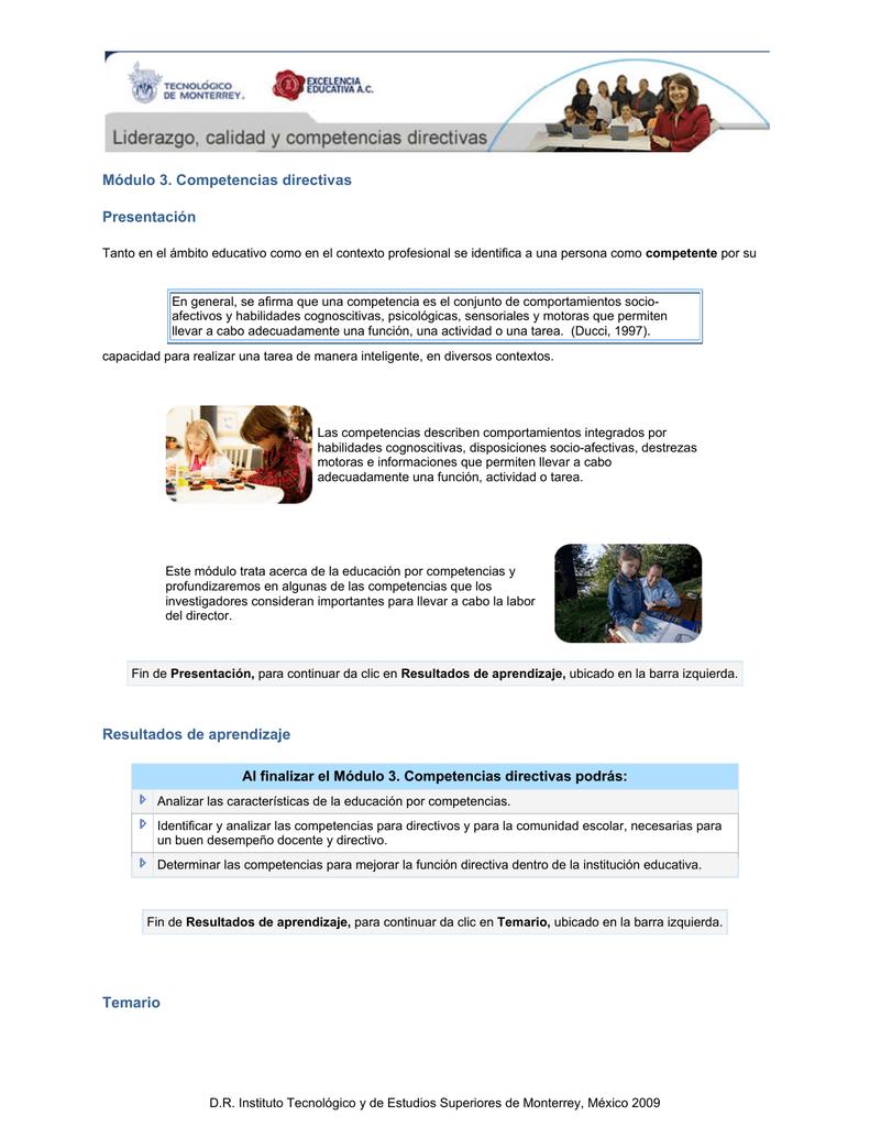 Módulo 3 Competencias Directivas Presentación Resultados De