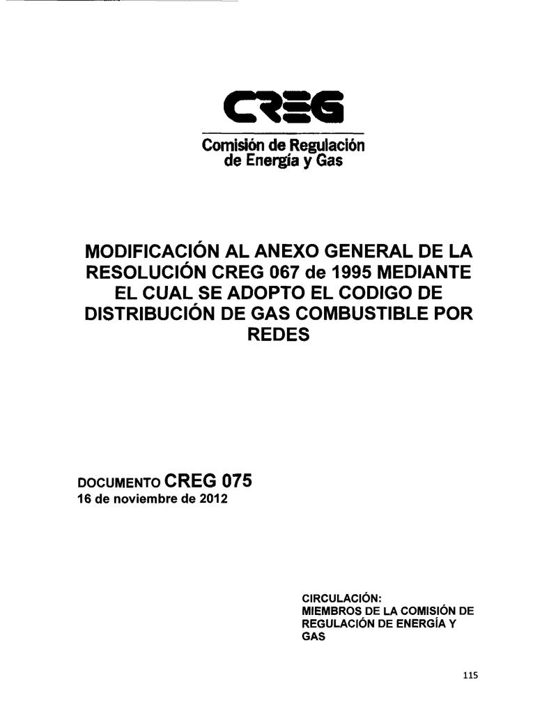 CREG 067 DE 1995 DOWNLOAD