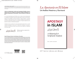 La Apostasía en El Islam - International Institute of Islamic Thought