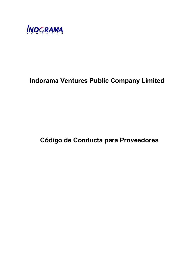 Indorama Ventures Public Company Limited Código de Conducta