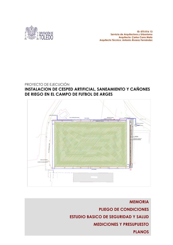 proyecto de ejecución césped campo de fútbol