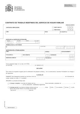 Modelo de contrato de duraci n determinada Contrato de trabajo indefinido servicio hogar familiar