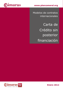 Modelo de Carta de Credito sin posterior financiacion