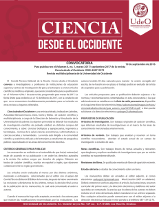 convocatoria - Universidad de Occidente