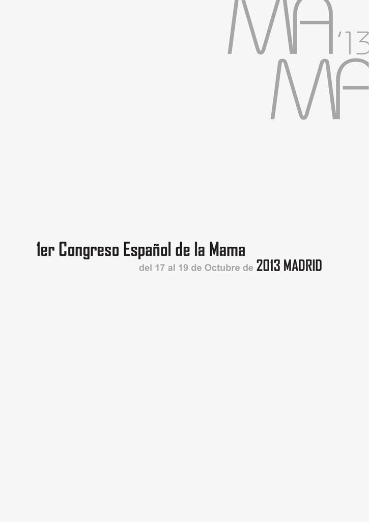 1er Congreso Espaol de la Mama