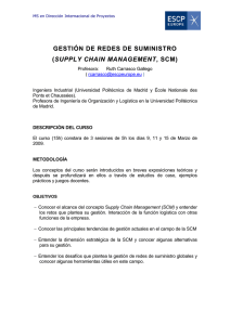 supply chain management , scm