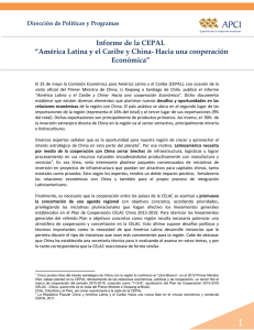 América Latina y el Caribe y China