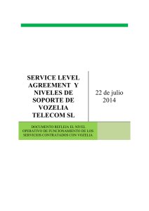 service level agreement y niveles de soporte de vozelia telecom sl