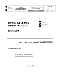 Manual Sivigila 2016 - Instituto Nacional de Salud