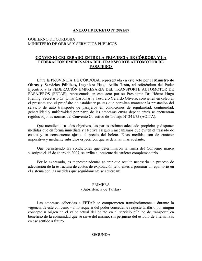 2081-07 ANEXO - Gobierno de la Provincia de Córdoba