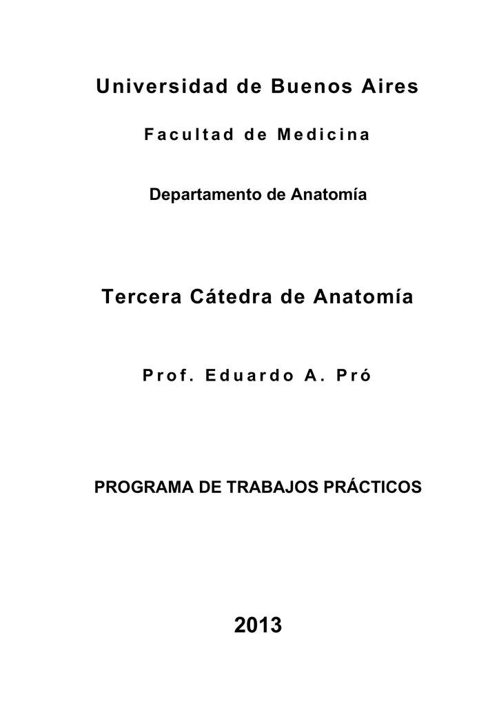 Departamento de Anatomía - Facultad de Medicina