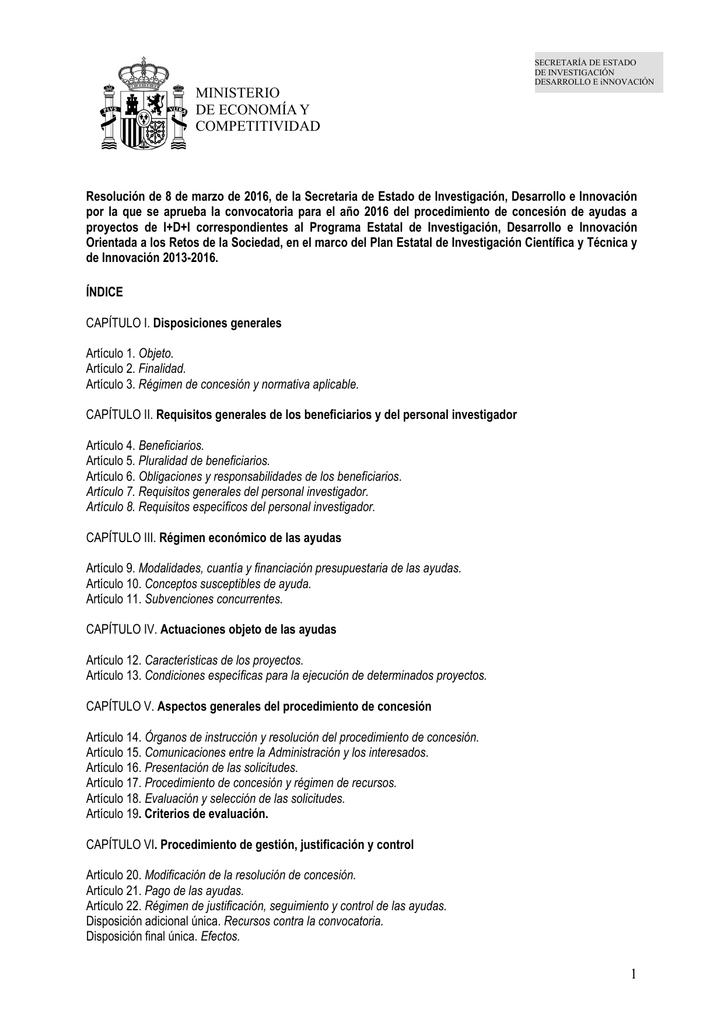 curriculum vitae abreviado ministerio de economía y competitividad