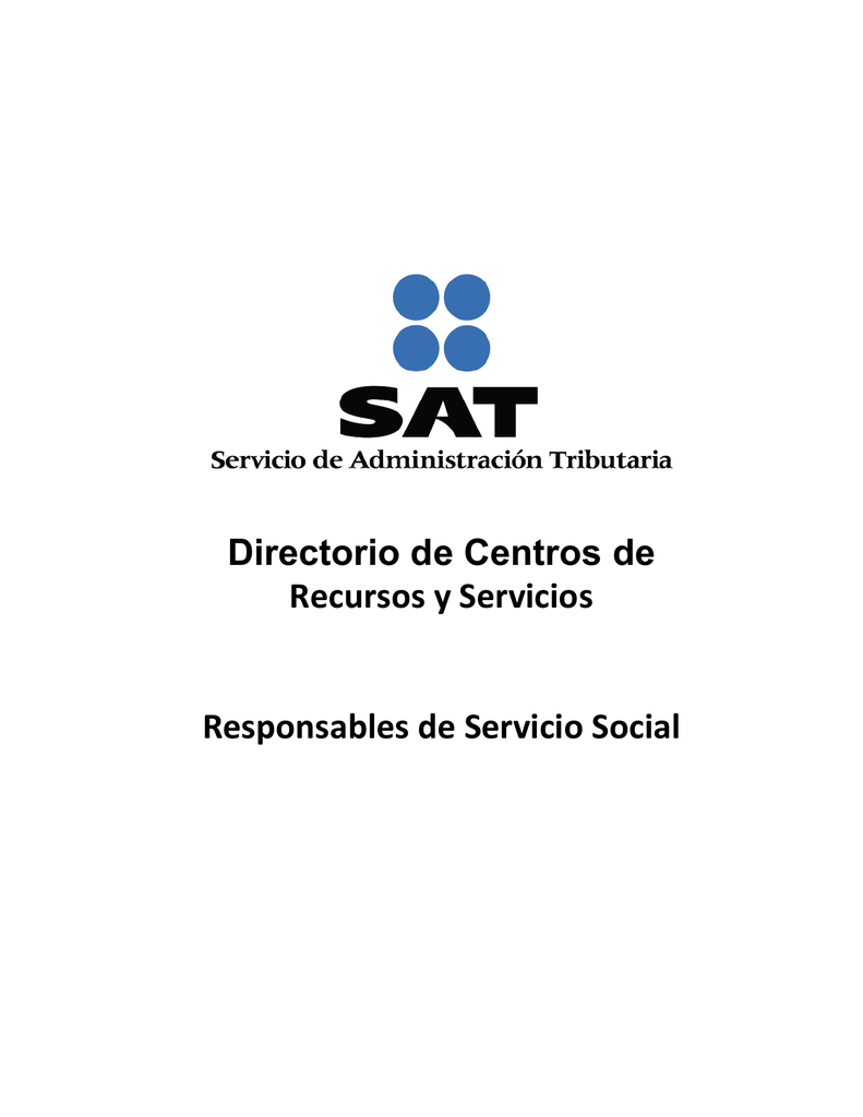 Directorio De Centros De Recursos Y Servicios Responsables