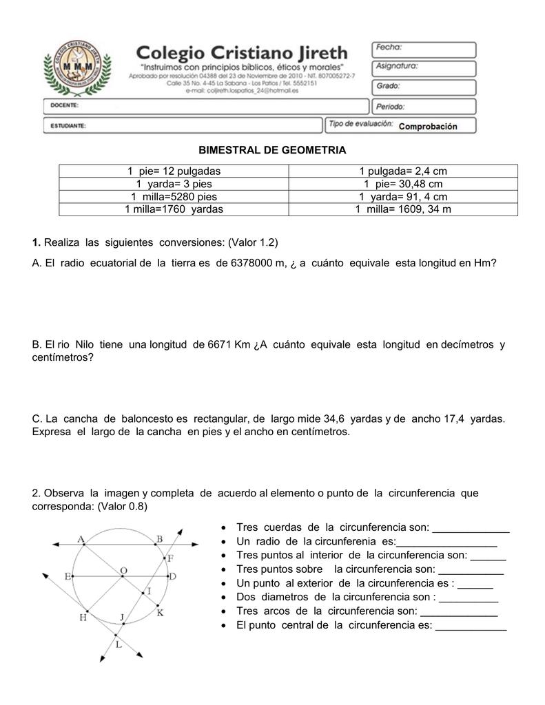Bimestral De Geometria 1 Pie 12 Pulgadas 1