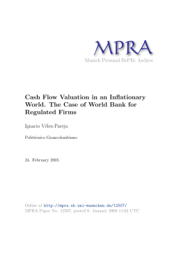 Cash Flow Valuation in an Inflationary World. The Case of World