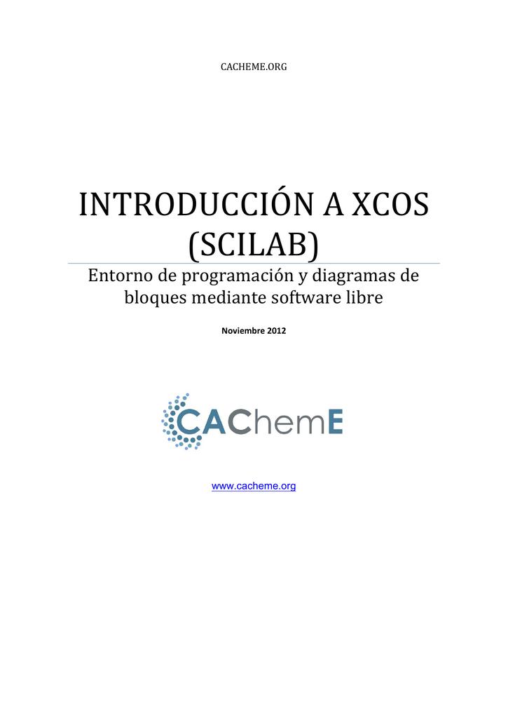 introducción a xcos (scilab)