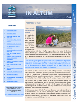 Newsletter Junio 2016 - Colegio Stella Maris