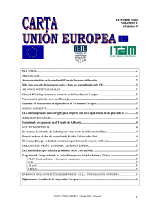 CARTA UNION EUROPEA