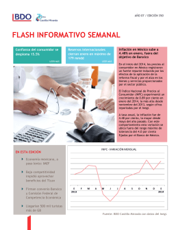 FLASH INFORMATIVO SEMANAL