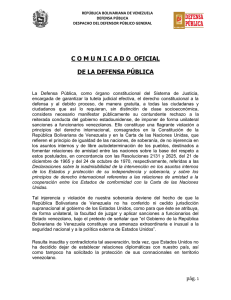 Comunicado Defensa Pública