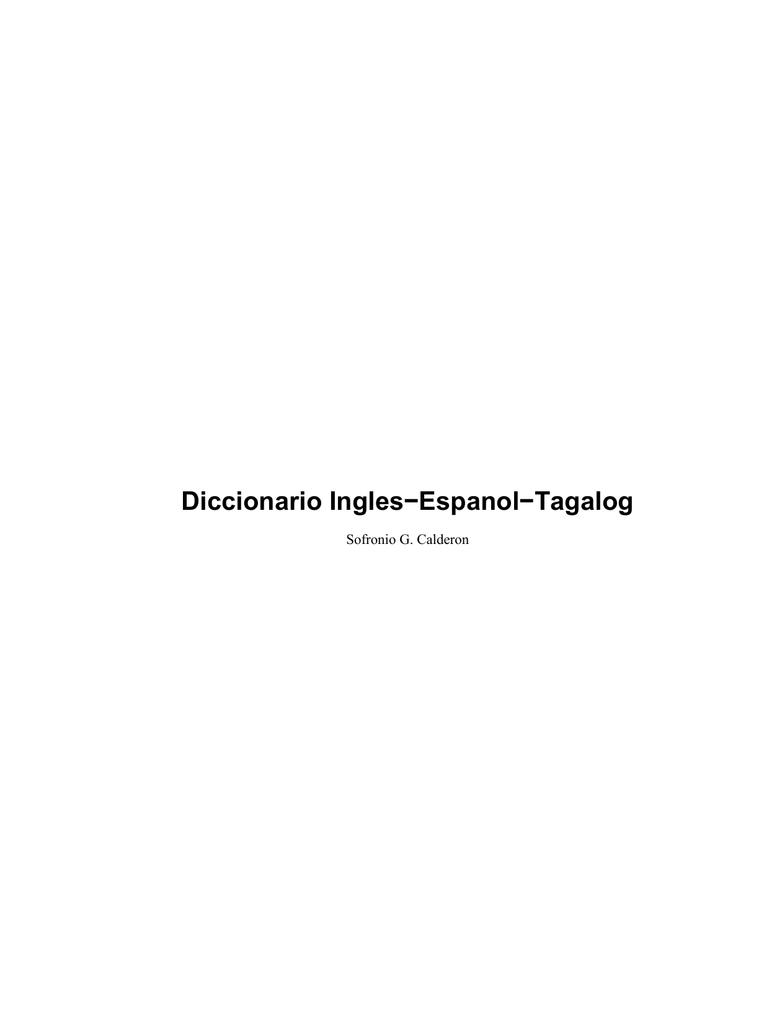 Diccionario Ingles-Espanol