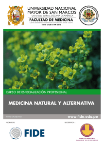 medicina natural y alternativa - colegio quimico farmaceutico