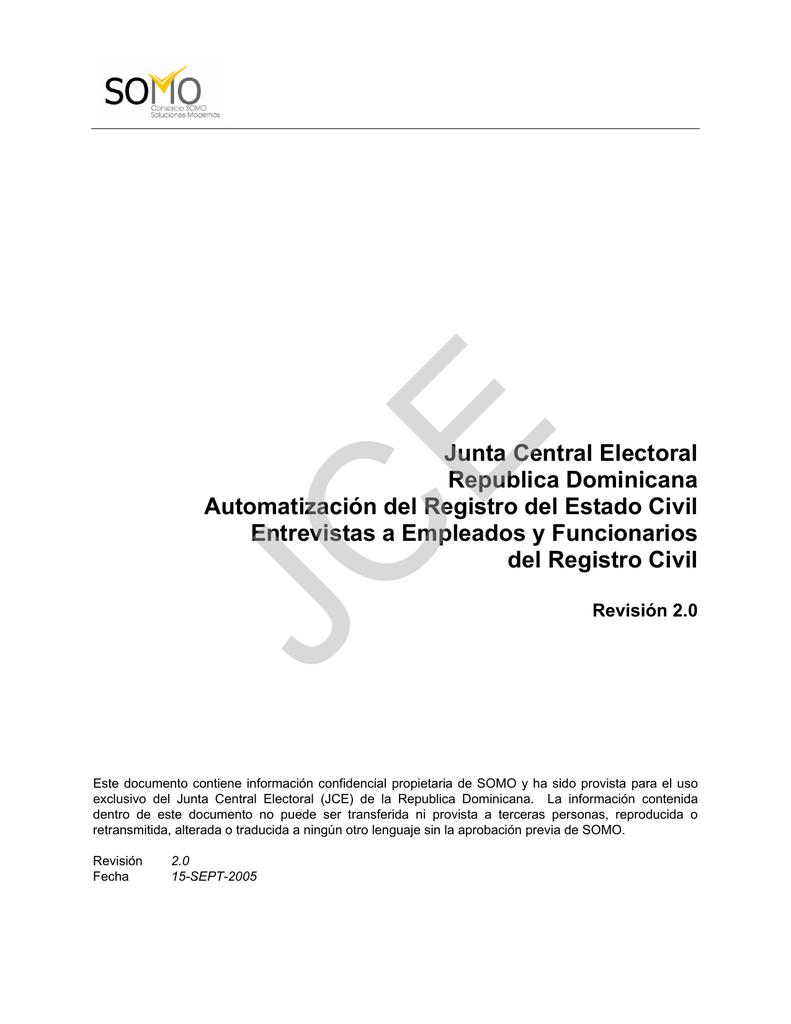 Junta Central Electoral Republica Dominicana Automatización del
