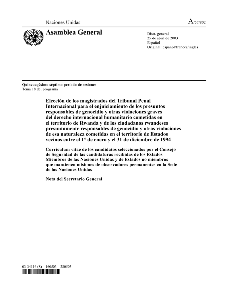 Asamblea General - Naciones Unidas