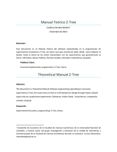 Manual Teorico Z-Tree - Facultad de Ciencias Económicas