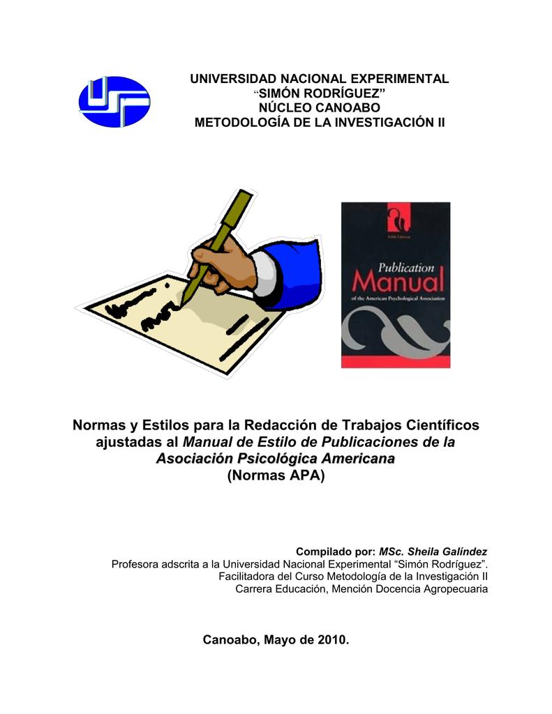 Normas y Estilos para la Redacción de Trabajos