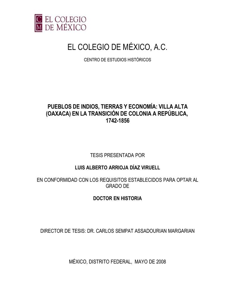 Pueblos de indios, tierras y economía : Villa Alta (Oaxaca)