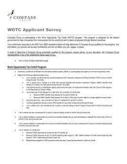 WOTC Applicant Survey