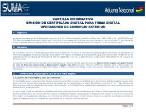 cartilla informativa emisión de certificado digital para firma digital