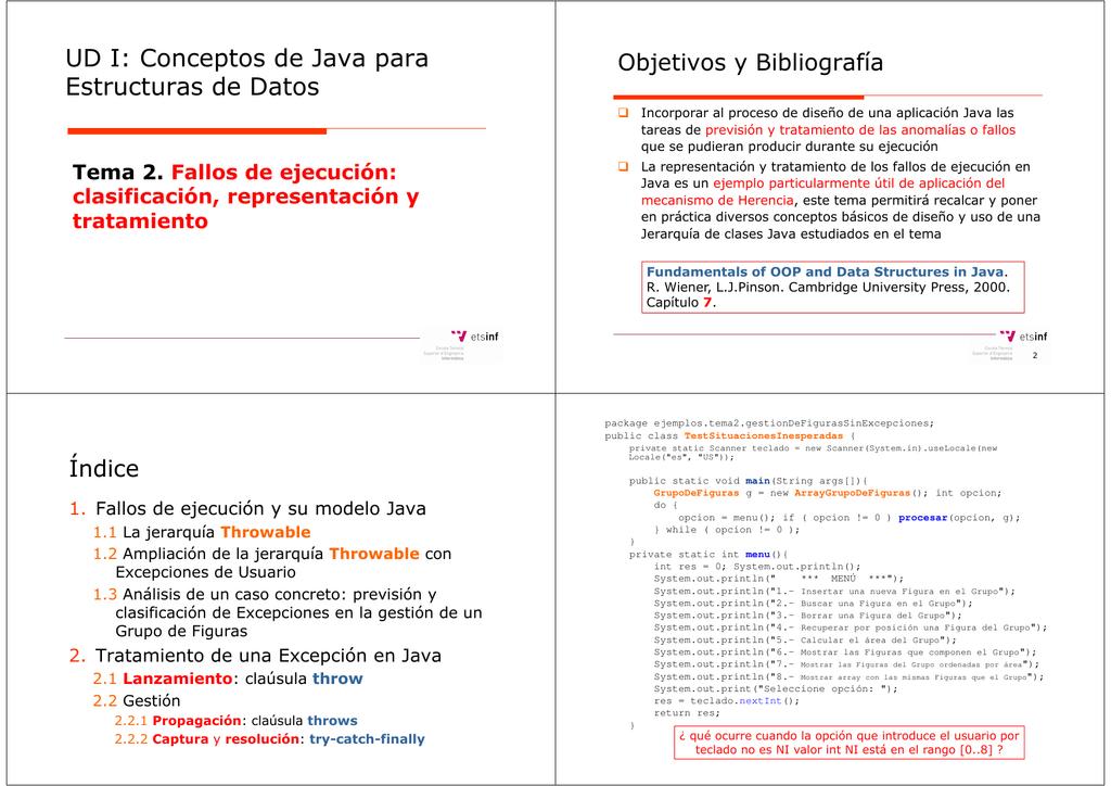 Ud I Conceptos De Java Para Estructuras De Datos