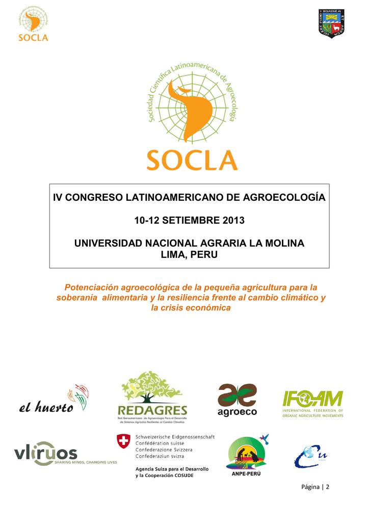 Iv congreso latinoamericano de agroecologa 10 socla ccuart Choice Image