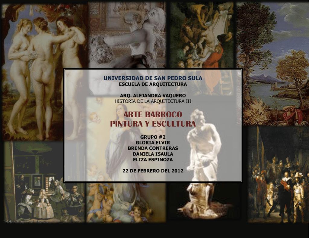 Arte Barroco Pintura Y Escultura Historia De La Arquitectura Usps