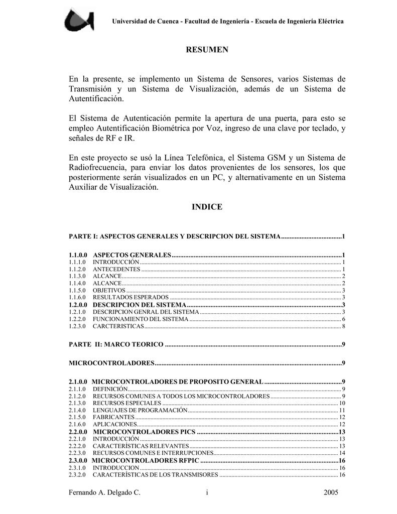 parte i: aspectos generales y descripcion del sistema
