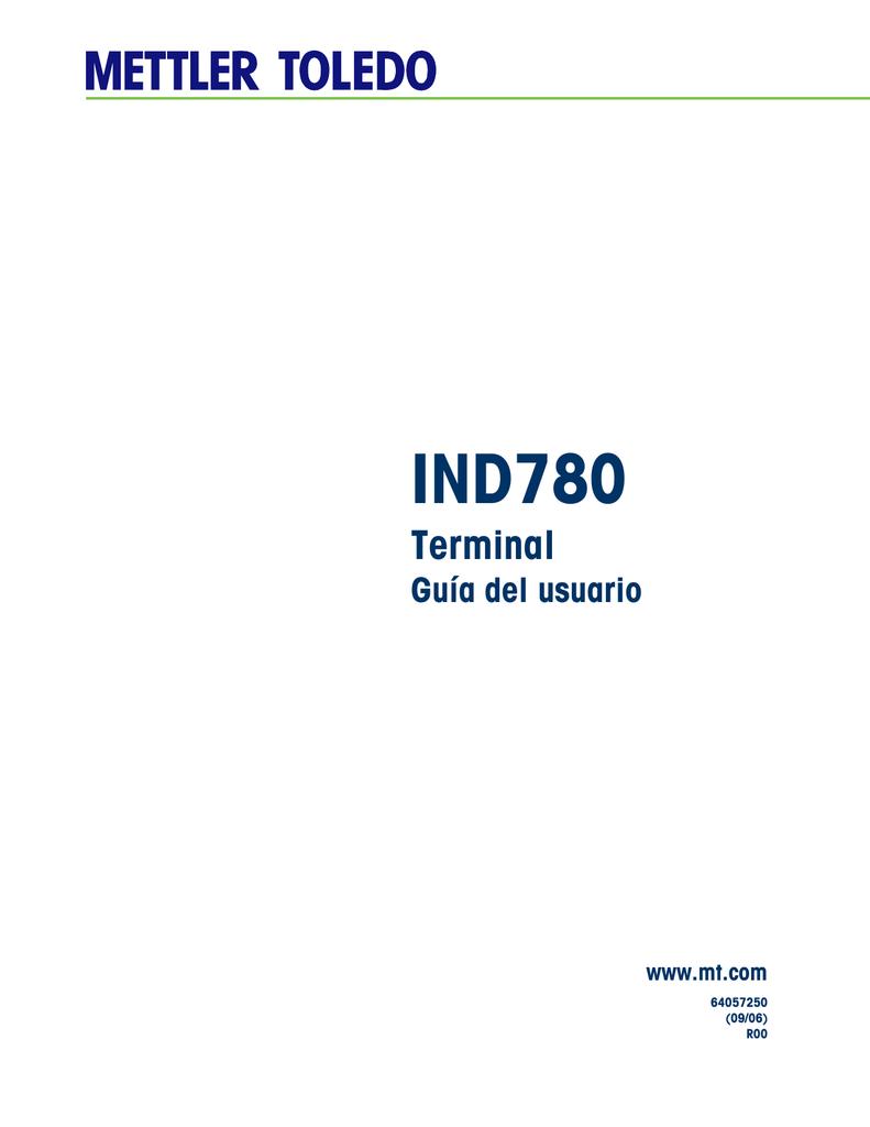 IND780 Terminal Guía del usuario