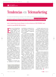 Tendencias en Telemarketing