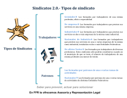 Sindicatos 2.0.-‐ Tipos de sindicato