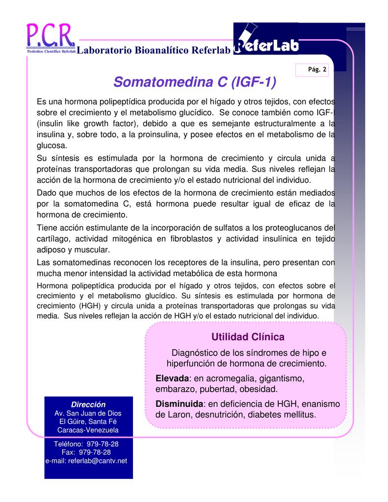 hormona igf 1 en diabetes