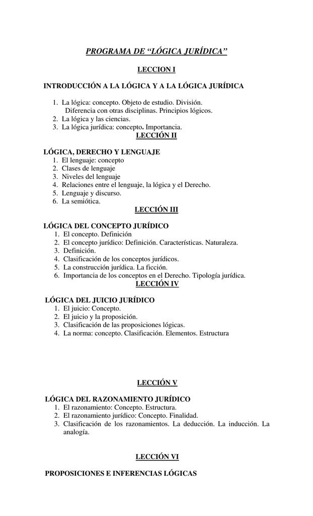 Programa De Lógica Jurídica