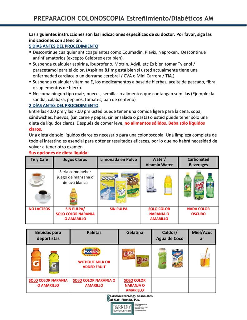Dieta liquida completa para diabeticos