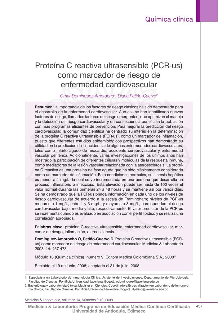 papel de la proteína c reactiva en la diabetes