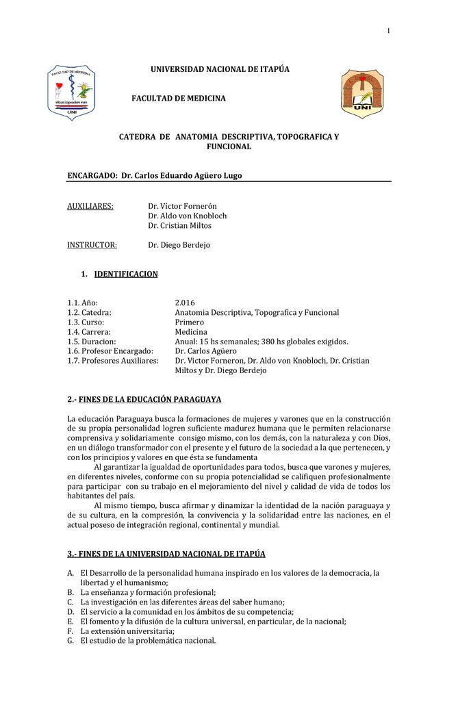 Anatomía Descriptiva y Topográfica