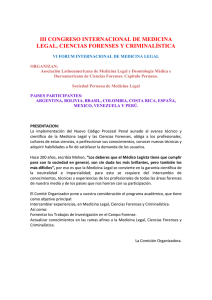 iii congreso internacional de medicina legal, ciencias forenses y