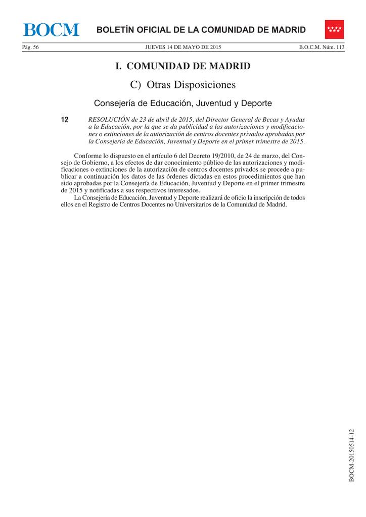 Resolución De 23 De Abril De 2015 Del Director General De