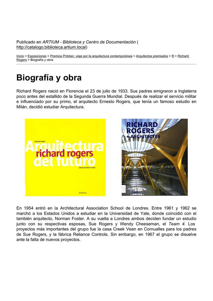 Biografía y obra - ARTIUM - Biblioteca y Centro de Documentación