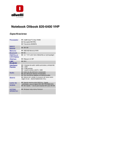 Notebook Olibook 820-6400 VHP